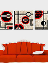 Art Print Abstract Modern Three Panels Horizontal Print Wall Decor For Home Decoration