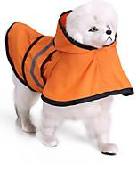 Chat Chien Imperméable Vêtements pour Chien Décontracté / Quotidien Etanche Uni Orange Bleu