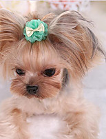 Собаки пояс/Бабочка Одежда для собак Милые Мода На каждый день Однотонный Лиловый Зеленый Розовый Светло-синий