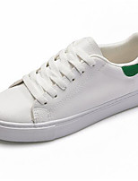Women's Sneakers Comfort Canvas Spring Casual White/Green Black/White Flat