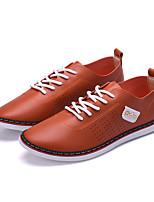 Herren Sneaker Komfort Leuchtende Sohlen PU Frühling Sommer Herbst Winter Outddor Büro Lässig Walking Kombination Flacher AbsatzSchwarz