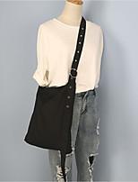 Women Shoulder Bag Canvas All Seasons Casual Shopper Magnetic Blushing Pink Black