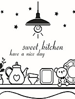Wall Stickers Wall Decas Style Sweet Kitchen English Words & Quotes PVC Wall Stickers