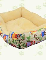 Dog Bed Pet Mats & Pads Animal Keep Warm Soft Elastic Durable Black Blue Beige