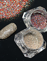 2bottles/set 0.2g/bottle Fashion Shining Decoration Gorgeous Nail Art Platinum Glitter Power Galaxy Starry Effect DIY Design BG15&18