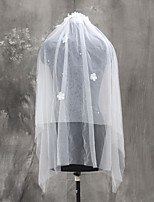 Wedding Veil Two-tier Elbow Veils Fingertip Veils Cut Edge Tulle Netting