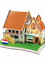Jigsaw Puzzles 3D Puzzles Building Blocks DIY Toys Architecture Paper Model & Building Toy