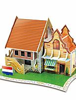 Puzzles Puzzles 3D Blocs de Construction Jouets DIY  Architecture Papier Maquette & Jeu de Construction