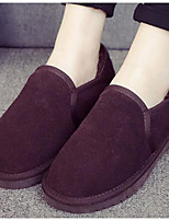 Women's Boots Comfort Suede Spring Casual Comfort Coffee Gray Black Flat