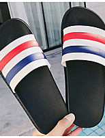 Men's Slippers & Flip-Flops PU Spring White Black Gray Flat