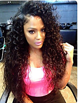 New Style 150% Density Kinky Curly Natural Black Color Hair Wig High Quality Human Hair Lace Front Wigs With Baby Hair