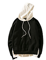Men's Casual/Daily Hoodie Letter Round Neck Micro-elastic Polyester