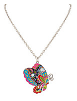 Korean Style Fashion And Personality Adorable Multicolor Butterfly Lady Casual Pendant  Necklace Gift  Movie Jewelry