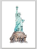 Ручная роспись Абстракция Вертикальный панорамный,Modern Классика 1 панель Холст Hang-роспись маслом For Украшение дома