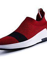 Men's Athletic Shoes PU Spring Fall Lace-up Flat Heel Black Gray Ruby Blue Under 1in