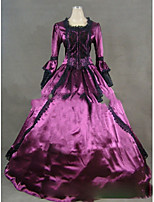 Une Pièce/Robes Gothique Lolita Cosplay Vêtrements Lolita Rétro Mancheron Manches Longues Ras du Sol Robe Pour