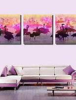 Art Print Animal Modern Three Panels Horizontal Print Wall Decor For Home Decoration