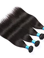 Натуральные волосы Малазийские волосы Человека ткет Волосы Прямые Наращивание волос 4 предмета Черный