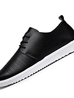 Men's Sneakers Comfort Synthetic Microfiber PU Spring Casual White Black Orange Flat