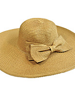 Straw Hat Bow Men Summer Cap Wide Brim Hawaii Folding Soft Sun Hat Casual Foldable Brimmed Beach Hats