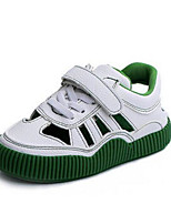 Girls' Sandals First Walkers PU Spring Fall Casual First Walkers Magic Tape Flat Heel Green White Flat