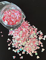 2g Heteromorphism Glitter Five-Pointed Star  Sweat-Heart Tablets Nail Art Decorations