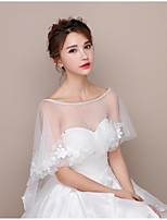 Women's Wrap Capelets Lace Tulle Wedding