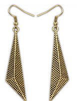Euramerican Metal Solid Geometry Triangle Copper Earrings Women's Daily Statement Jewelry