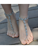 Women's Anklet/Bracelet Imitation Pearl Rhinestone Alloy Fashion Flower Jewelry For Daily Casual 1 pcs