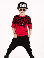 Boy's Print Sets,Cotton Blend Summer Long Sleeve Clothing Set