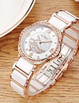 Жен. Модные часы Кварцевый Керамика Группа Белый