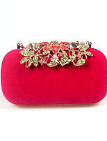 L.WEST Woman Fashion Luxury High-grade Leaves Flowers Diamonds Evening Bag