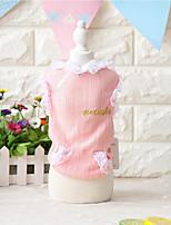 Chien Gilet Vêtements pour Chien Blanc Rose