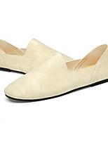 Men's Loafers & Slip-Ons Microfibre Spring White Black Gray Flat