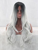 Gray Gradient Wig Pick COS Hairstyle Female Cosplay Wig 26inch