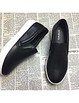 Для женщин На плокой подошве Удобная обувь Натуральная кожа Весна Повседневные Удобная обувь Белый Черный На плоской подошве