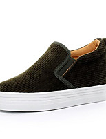 Women's Loafers & Slip-Ons Comfort Canvas Spring Casual Comfort Army Green Gray Black Flat