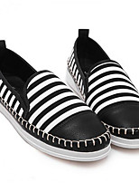 Для женщин Мокасины и Свитер Удобная обувь Полотно Весна Повседневные Удобная обувь Белый Черный На плоской подошве