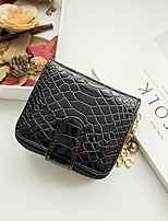 Women's wallet snake grain zipper hidden-interlocking zero wallet patent leather brief paragraph lady's purse