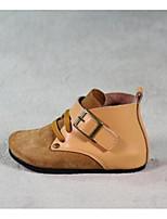 Девочки На плокой подошве Обувь для малышей Натуральная кожа Овчина Весна Осень Повседневные Для прогулок Обувь для малышей На липучкахНа
