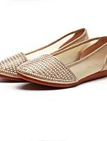 Women's Loafers & Slip-Ons Retro Fabric Spring Summer Casual Retro Flat Heel Beige Black Flat