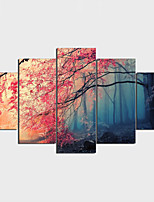 Stretched Canvas Print Landscape Modern Classic,Five Panels Horizontal Print Wall Decor For Home Decoration