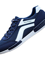 Men's Sneakers Comfort Tulle Rubber Spring Casual Blue Light Grey Black Flat