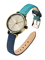 Women's Fashion Watch Japanese Quartz Water Resistant / Water Proof Leather Band Casual Blue Red Grey Khaki