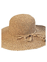 Straw Hat Big Holiday Beach Folding Soft Sun Hat Casual Women Travel Summer