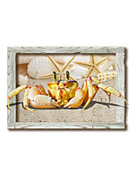 3D Crab Night Lights Wall Poster Adhered PVC  Decorative Skin Wall Stickers  for Bedroom