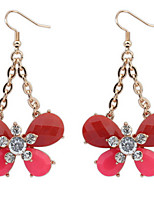 Euramerican Adorable Fashion Rhinestone Bowknot Lady Party  Drop Earrings Movie Jewelry