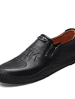 Men's Oxfords Comfort PU Spring Casual Brown Black White Flat