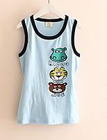 2017 Summer Wear Korean Style Cartoon Boy Girl Children's Vest  Children Sleeveless T-Shirt