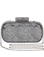 L.west Women Elegant High-grade Snake Print Plaid Evening Bag
